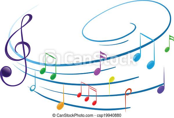 note, musicale - csp19940880