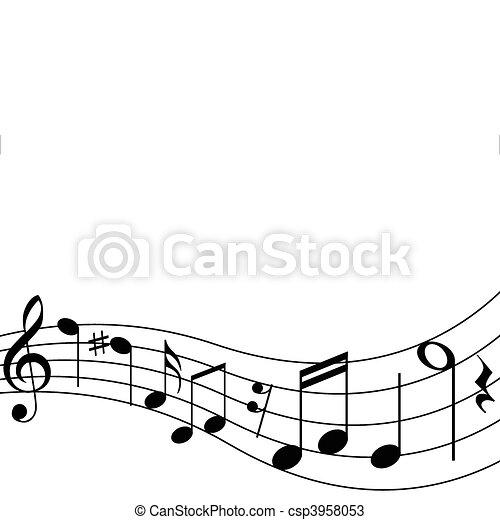note, musicale - csp3958053