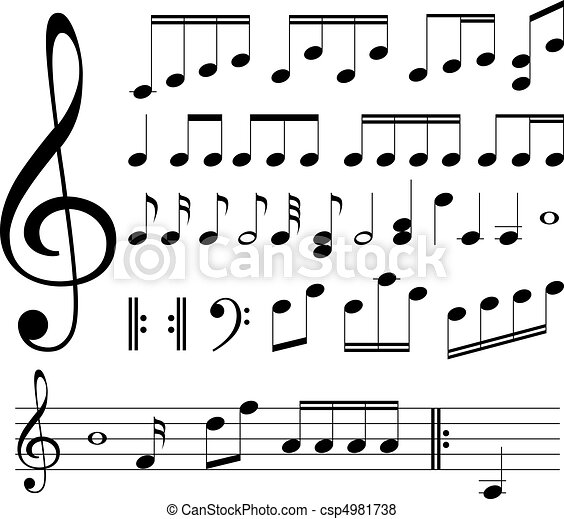 note musicali, signs. - csp4981738