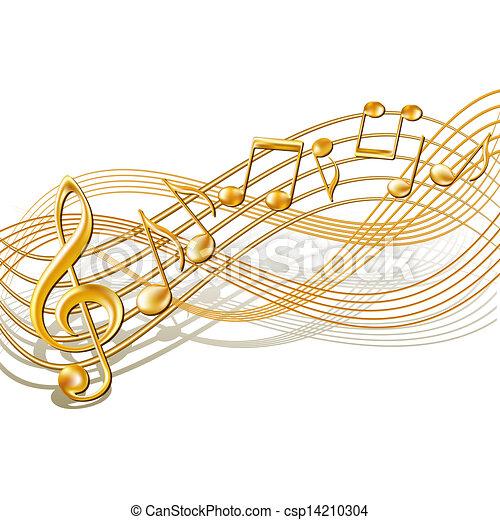 note, personale, white., fondo, musicale - csp14210304