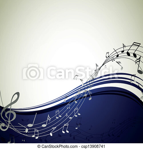 note, vettore, musica, fondo - csp13908741