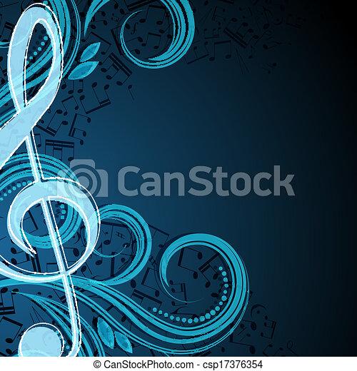 note, vettore, musicale, fondo - csp17376354