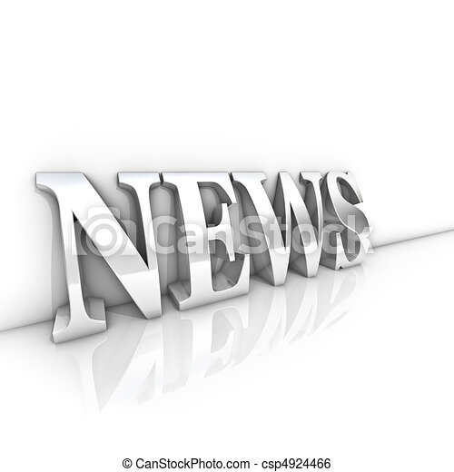 notizie, testo - csp4924466