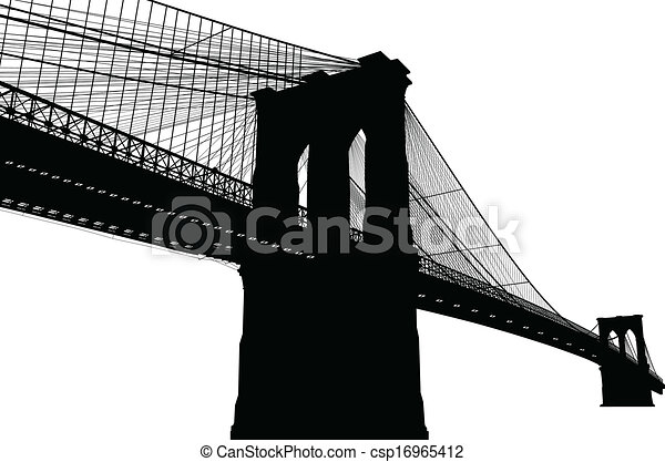 nuovo, brooklyn, york, ponte - csp16965412
