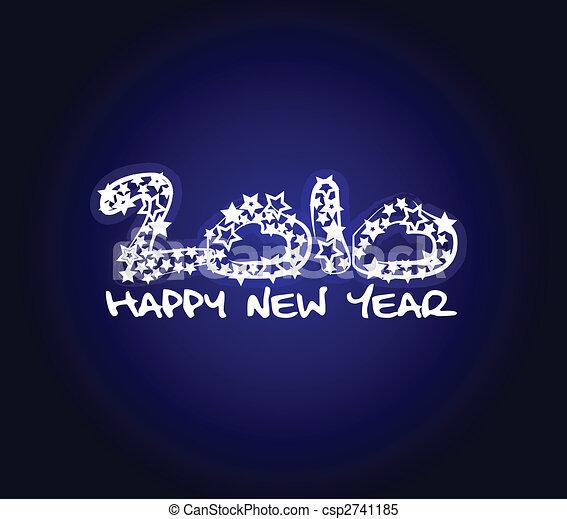 nuovo, felice, 2010, anno - csp2741185