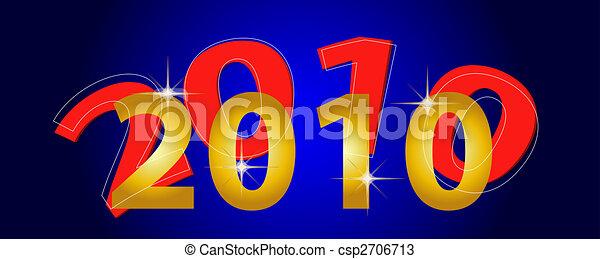 nuovo, felice, 2010, anno - csp2706713