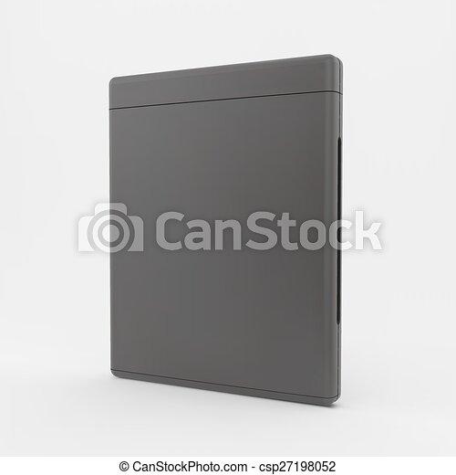 o, vettore, cd-case., vuoto, illustration., dvd-case, 3d - csp27198052
