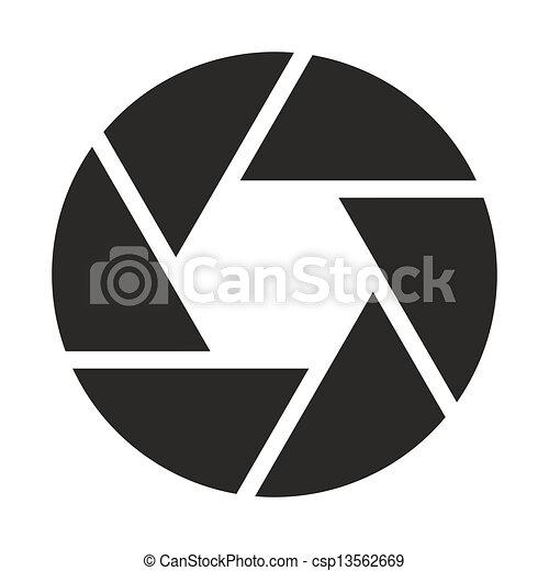 obiettivo, macchina fotografica, (symbol), icona - csp13562669