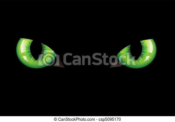 occhi, gatti - csp5095170