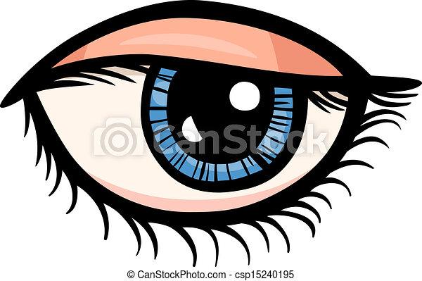 occhio, arte clip, cartone animato, illustrazione - csp15240195