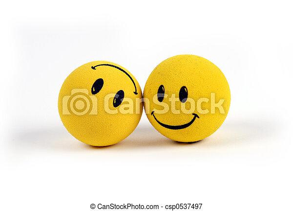 oggetti, -, giallo, faccina affronta - csp0537497