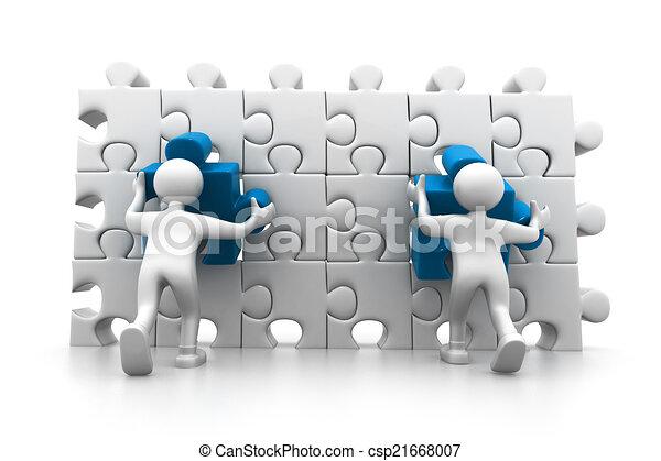 organizzazione, parte, importante, persone - csp21668007