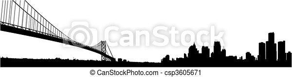 orizzonte, detroit - csp3605671