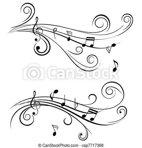ornamentale, note, musica - csp7717368