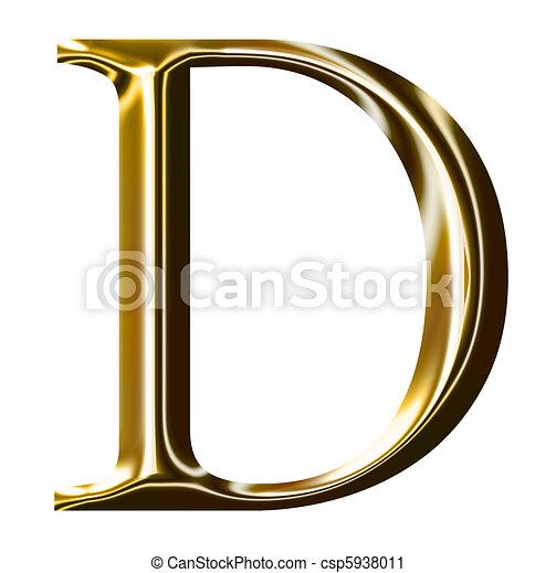 oro, alfabeto, d, simbolo - csp5938011