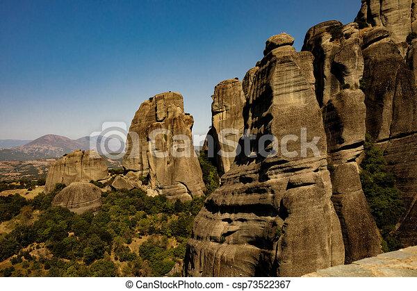 paesaggio, meteora, monasteri, greece. - csp73522367