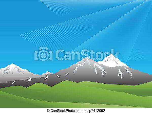 paesaggio, montagne - csp7412092