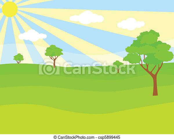 paesaggio verde - csp5899445