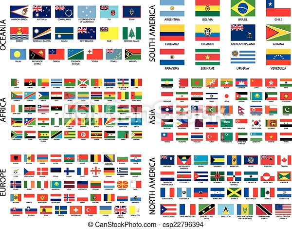 paese, alfabetico, bandiere, continente - csp22796394