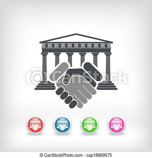palazzo di giustizia, accordo - csp18969575