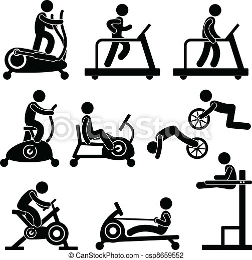 palestra, palestra, esercizio, idoneità - csp8659552
