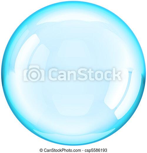 palla, colorato, acqua, cyan, bolla, sapone - csp5586193