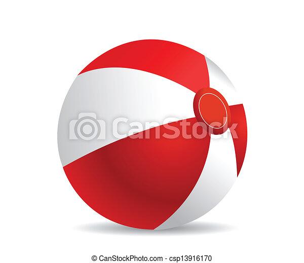 palla spiaggia - csp13916170
