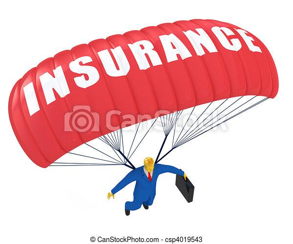 paracadute, assicurazione - csp4019543