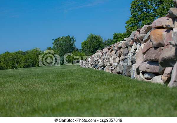 parete, campo, pietra - csp9357849