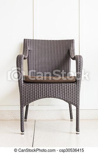 parete, decorazione, sedia, bianco, mobilia - csp30536415