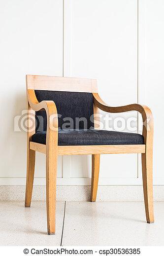 parete, decorazione, sedia, bianco, mobilia - csp30536385