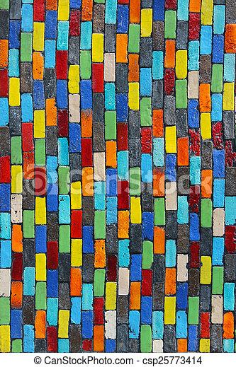 parete, fondo., mattone, colorito - csp25773414