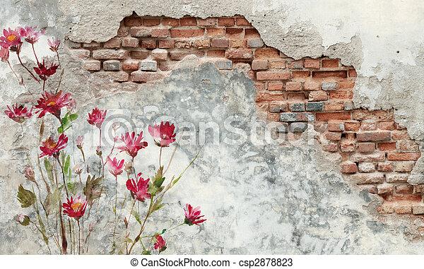 parete, mattone - csp2878823