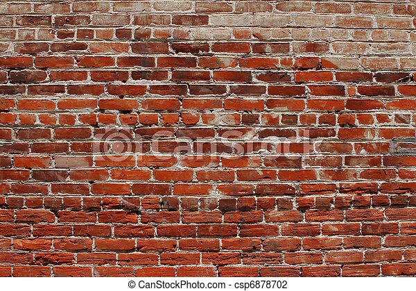 parete, mattone, fondo - csp6878702