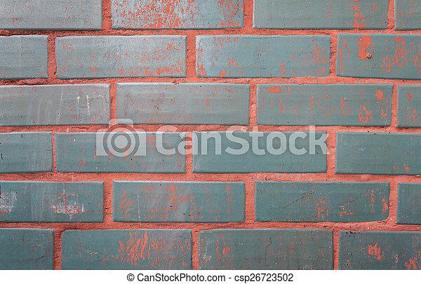 parete, mattone, fondo, struttura, colorito - csp26723502