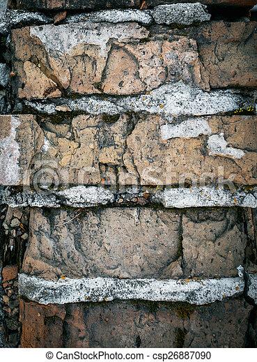 parete, mattone, fondo, struttura, colorito - csp26887090