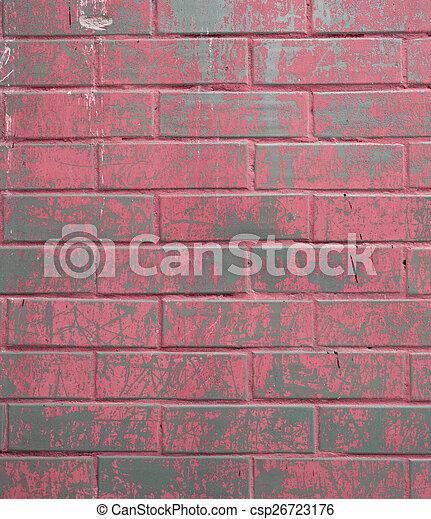 parete, mattone, fondo, struttura, colorito - csp26723176