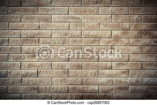 parete, mattone, fondo, struttura, colorito - csp26887083