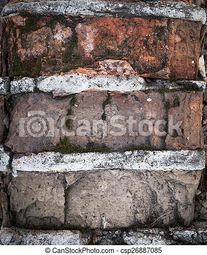 parete, mattone, fondo, struttura, colorito - csp26887085