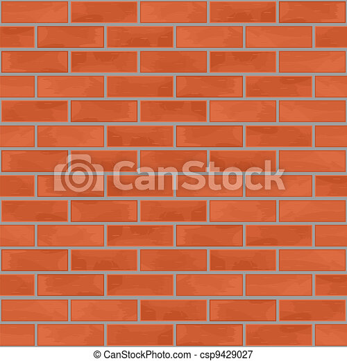 parete, mattone, seamless, fondo - csp9429027