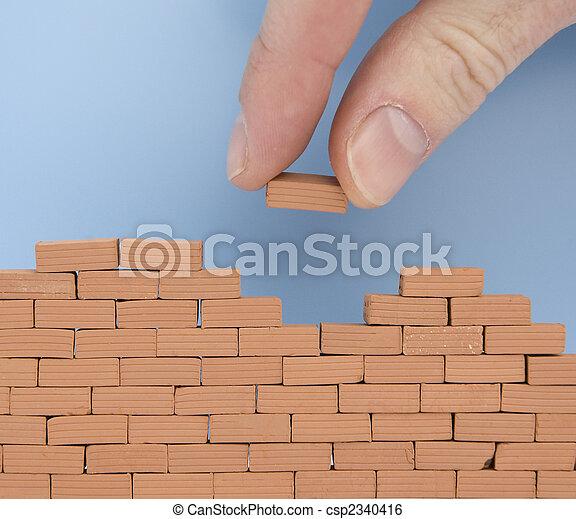 parete, mattone, un altro - csp2340416