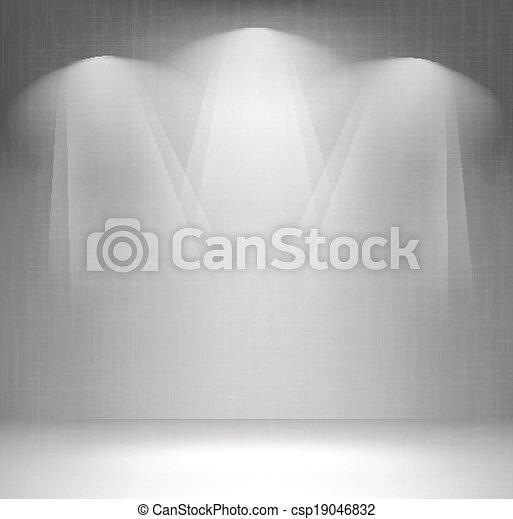 parete, riflettore - csp19046832
