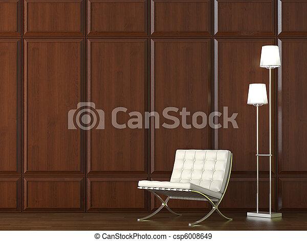 parete, sedia, legno, cladding - csp6008649