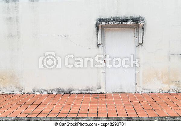 parete, vecchio, porta, fondo - csp48290701