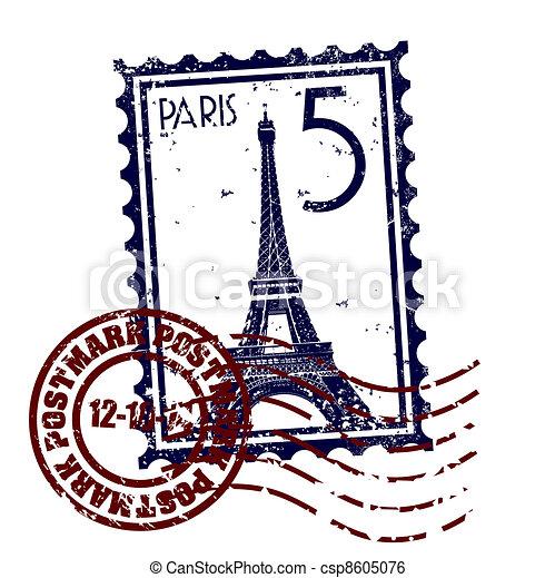 parigi, isolato, illustrazione, singolo, vettore, icona - csp8605076