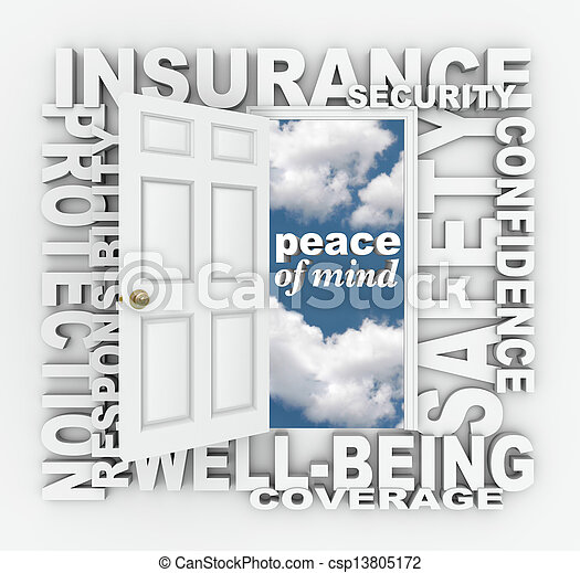 parola, collage, protezione, porta, sicurezza, assicurazione, 3d - csp13805172