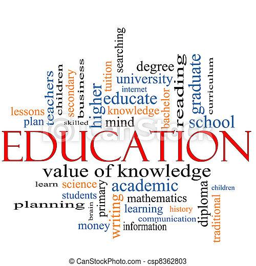 parola, concetto, educazione, nuvola - csp8362803