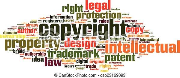 parola, copyright, nuvola - csp23169093