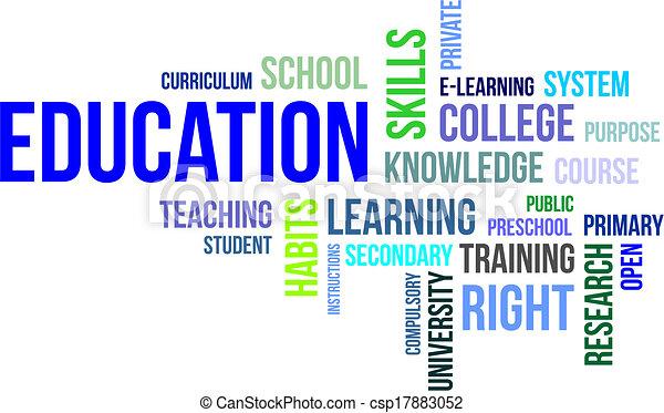 parola, educazione, -, nuvola - csp17883052