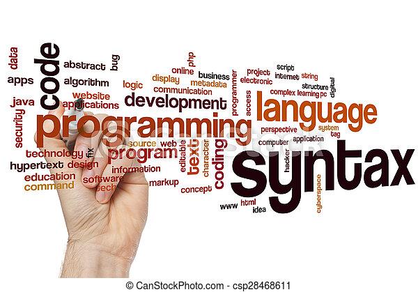 parola, nuvola, syntax - csp28468611
